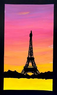 Maybe famous structures of the world: statue of liberty, eiffel tower, golden gate bridge....Silhouette in backlight
