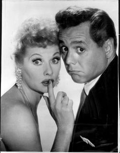 "Lucy Says, ""Shhhhhhh!""    Lucille Ball and Desi Arnaz...my husband and I need to pose like this."