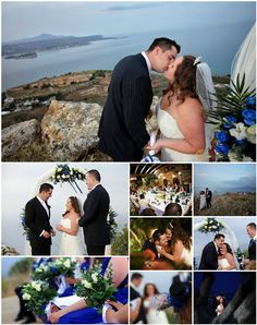 Navy blue and white, the colours of Greece .Link in description. Navy Blue, Blue And White, Crete, Real Weddings, Wedding Planner, Product Description, Colours, Link, Image
