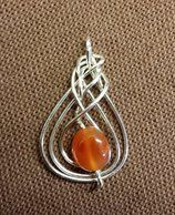 Sterling silver and carnelian