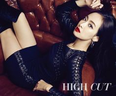 f(x)'s Victoria is one hot girl in her solo pictorial with 'High Cut'! She's rocking some statement lip shades in the classy and ladylike photo shoot. Victoria Fx, Victoria Song, Asian Woman, Asian Girl, Song Qian, Queen, Korean Celebrities, Girl Crushes, High Cut