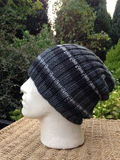 431919b080b Men Hat Grey Grey Striped Beanie Dark Grey Hat light