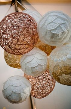 Wedding Paper Lanterns to Add to Your Decor DIY coffee filter and doily paper lanterns for rustic wedding decor. The post Wedding Paper Lanterns to Add to Your Decor appeared first on Paper Diy. Wedding Reception, Our Wedding, Dream Wedding, Rustic Decor Wedding, Diy Wedding Tent, Doily Wedding, Deco Luminaire, Diy Wedding Decorations, Wedding Paper Lanterns