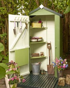 Related posts: 30 Brilliant Small Garden Shed Storage Ideas 65 Small Backyard Garden Landscaping Ideas 42 Creative Small Patio Design Ideas 50 Awesome Modern Backyard Garden Design Ideas With Hanging Plants Backyard Sheds, Outdoor Sheds, Garden Sheds, Garden Shed Interiors, Shed Design, Garden Design, Garden Projects, Garden Tools, Garden Storage Shed