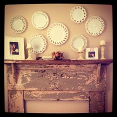 My daughter's bedroom mantle! Looks awesome!!  A chip off the old block, she is, lol.