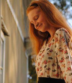 photography // long red hair // autumn // summer // flower shirt // orange aesthetic