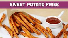 Cool How To Make CRISPY Baked Sweet Potato Fries, Healthy Recipe! Mind Over Munch - video