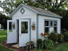 Yard Potting Shed/Garden - Window Trim Ideas (Remodel)