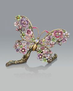 Jay Strongwater Vases, Bowls & Figurines at Neiman Marcus Horchow Insect Jewelry, Butterfly Jewelry, Bird Jewelry, Butterfly Art, Jewelry Crafts, Jewelery, Jay Strongwater, Look Vintage, Metal Casting