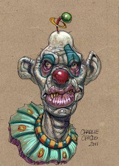 Charles Chiodo Clown illustration.