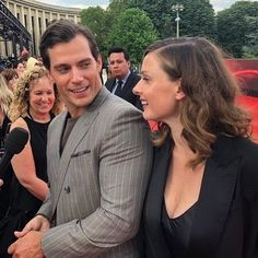 Henry Cavill and Rebecca Ferguson-attends the Global Premiere of 'Missio Henry Cavill, Rebecca Ferguson Hot, Henry Williams, Mission Impossible, Man Of Steel, British Actors, Most Beautiful Man, Cute Guys, Superman