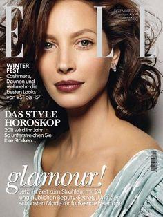 Elle Germany December 2010 Cover (Elle Germany). #cover #ChristyTurlington