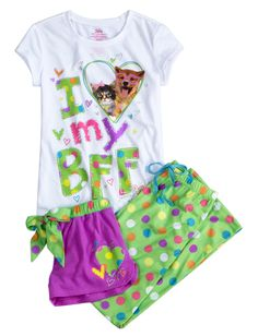 I Heart My BFF 3 Piece Pajama Sleep Set | 3 Pc Sets | Pajamas | Shop Justice