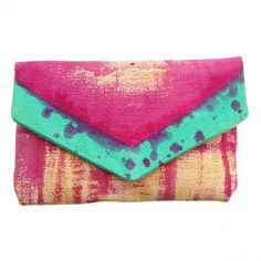 Mint and Magenta Clutch