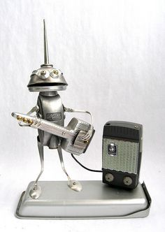 Johnson - Found Object Robot Assemblage Sculpture by adopt-a-bot, via Flickr