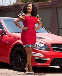 We'll be taking a look at recent trends in short Ankara dress styles which is a rave currently on the African fashion scene. Ankara Dress Styles, African Print Dresses, African Dresses For Women, African Attire, African Wear, African Style, Kente Styles, Ankara Tops, African Prints