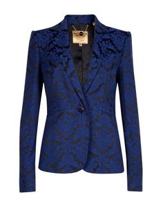 Jacquard jacket - Bright Blue | Suits | Ted Baker My Gawd. I would never take this off.