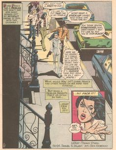 """Street Harassment: Published just over 40 years ago, for issue #203 of Wonder Woman (November-December, 1972). It's part of a """"special Women's Lib Issue,"""" that makes an attempt to connect the feminist issues of the day to the fictional adventures of Wonder Woman."""