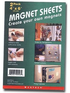 Magtech Magnet Sheets 4 in. x 6 in. pack of 2