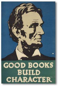 Abraham Lincoln - Good Books forger le caractère #book #livre #publicité #advertising