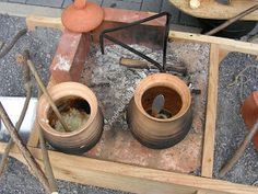 Cooking Stove, Fire Cooking, Cooking Tools, Tragbarer Herd, Bushcraft, Ancient Roman Food, Burnt Offerings, Dirty Kitchen, Portable Stove