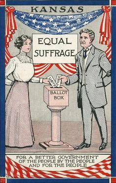 Kansas Equal Suffrage | Postcard | Wisconsin Historical Society