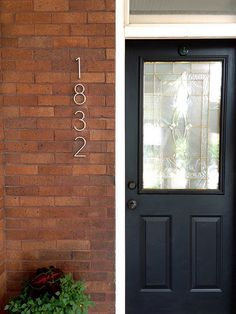 Modernize your house numbers. #exteriors