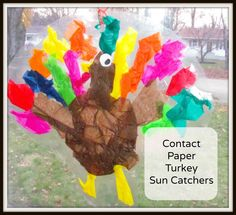 Contact Paper Turkey Sun Catchers