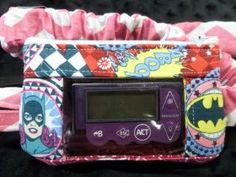Girls Superhero Window Insulin Pump Pouch Case