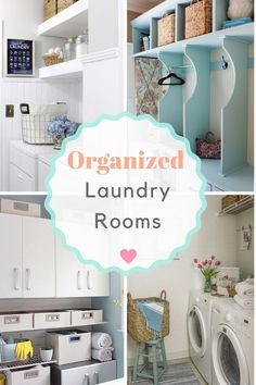 10 Plus organized laundry room