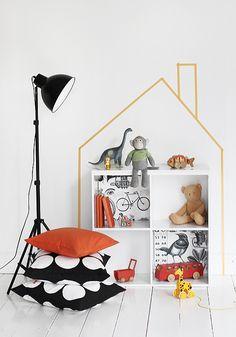 #DIY #House #masking Tape #kidsroom