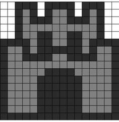 Mario Mini Castle Perler Bead Pattern / Bead Sprite by clara Perler Beads, Perler Bead Mario, Fuse Beads, Melty Bead Patterns, Hama Beads Patterns, Beading Patterns, Loom Beading, Kandi Patterns, Perler Bead Designs