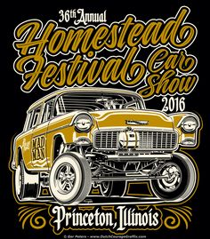 """Homestead Festival Car Show 2016"" car show - event T-shirt #homestead #festival #hot #rod #car #show #event #Tshirt #artwork"