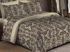 Kit Enxoval Queen Size Camesa - Bed In a Bag Zaire 7 Peças 150 Fios