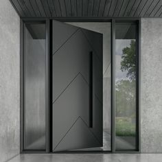 If you are searching for have the best quality Iron pivot doors for your home. then you are at the right place because Zen Doors have a large variety of doors from you can choose according to your preference. For more information check our website. Modern Entrance Door, Main Entrance Door Design, Modern Exterior Doors, Modern Front Door, Front Door Design, House Entrance, Entrance Doors, The Doors, Front Entry
