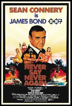 """1983, Sean Connery stars in """"Never Say Never Again"""" as the British secret service agent James Bond, a role he last played in 1971. The film's title referenced the fact that the Scottish-born actor had previously remarked that he would never play Agent 007 again. """"Never Say Never Again"""" was a commercial success, grossing $160 million at the box office, although less overall than the Eon-produced """"Octopussy"""" released in the same year."""