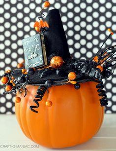 DIY Faux Decorated Pumpkins #diypumpkins