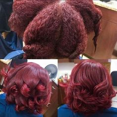 Deep red silk press via @rachel_redd - http://blackhair.cc/29Tw6w7