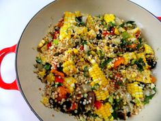 Grilled veggie cous cous, looks delicious!
