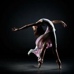 Ballet arch; flowing gown