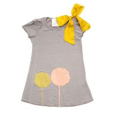 Grey dress with pink and yellow flower (IF I wanted a baby girl tomorrow)