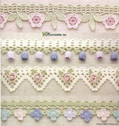 Awe Inspiring Crochet Wave Fan Edging Border Stitch Ideas – Home living color wall treatment kitchen design Crochet Boarders, Crochet Edging Patterns, Crochet Motif, Crochet Designs, Crochet Doilies, Crochet Flowers, Crochet Trim, Filet Crochet, Irish Crochet