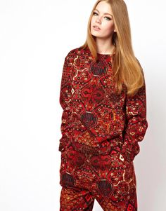 HOUSE OF HACKNEY Sweatshirt in Carpet Print