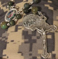 American Army Rosary, St Michael by #TripleTwisting on Etsy