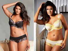 Plus-size models sell more lingerie than slim models – and brunettes sell more than blondes Plus-size lingerie collection from Adore Me - adoreme.com