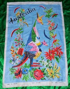Vintage Australian Tea Kitchen Towel  Lamont by PollyEsthersCloset, $10.00