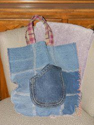 Recycle an old pair of jeans into a Funky Jeans Bag with this tutorial. Not only is this sewing pattern a wonderful way to reuse old jeans, it's a great chance to test out your sewing skills.