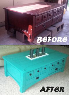 Coffee Table Makeover with Black Detailing Incredible transformation! This site also has lots of other inspiring DIY projects