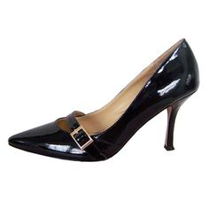 Model:Jimmy Choo Patent Black Leather Pumps >> £123.00