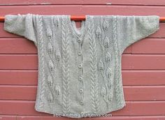 ABC Knitting Patterns - BEAUTIFUL Leaves Jacket - Large Sizes AT http://www.abc-knitting-patterns.com/1006.html